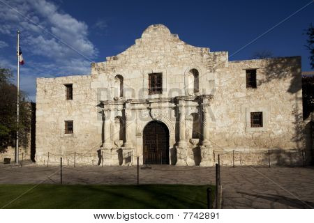 Close Up Of The Alamo In San Antonio Texas
