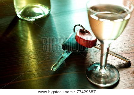 Ignition Key And Hard Liquer