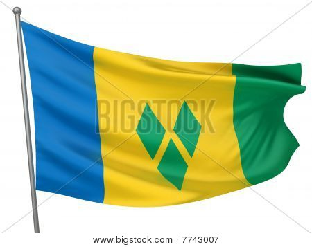 Saint Vincent And The Grenadines National Flag
