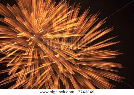 Fireworks Over A Night Sky