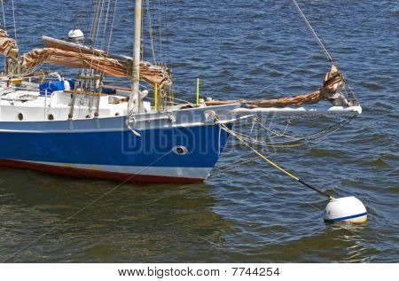 Boat Anchored in Harbor