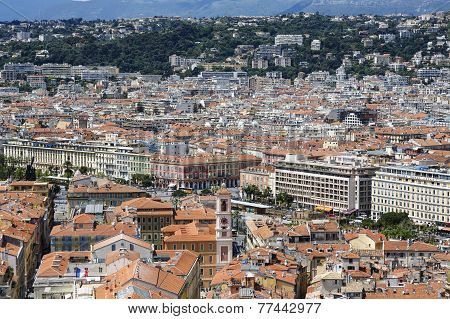 Old Town Of Nice, Aerial View