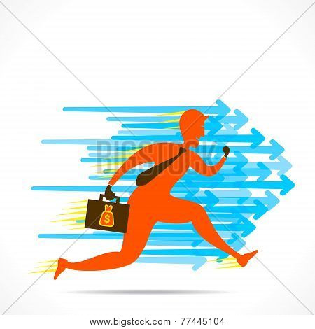 businessmen run with speed  to compete the competetor