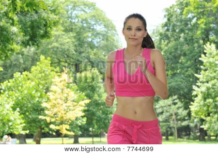 Young Person Running Outdoors
