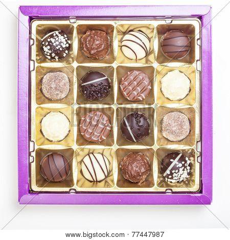 Chocolate Truffles, Pralines, Variety In Box