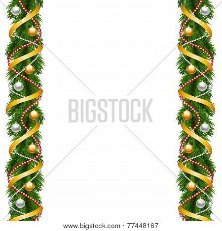 Borders of fir-tree decoration