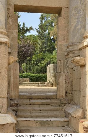 Door In The Roman Theatre Of Merida