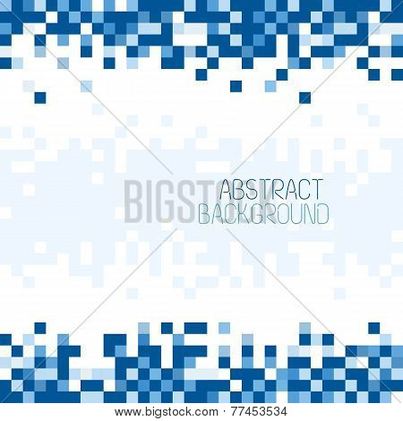 Abstract Pixel Mosaic Blue Pattern Background