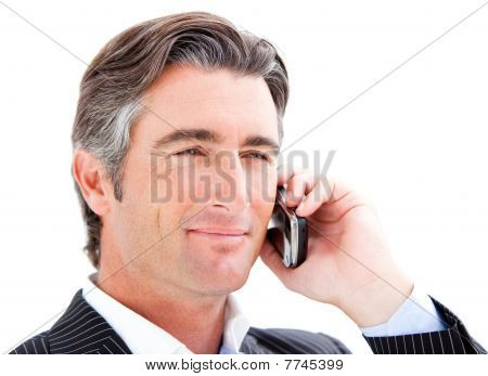 Confident Businessman Talking On The Phone