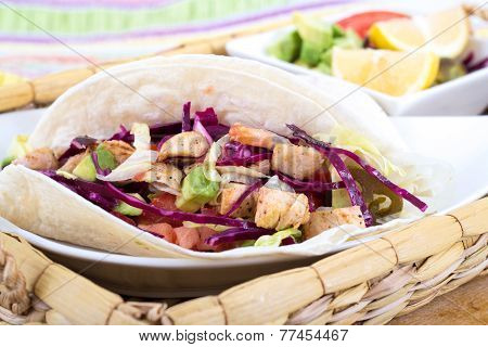 mahi mahi fish soft taco mexican dish