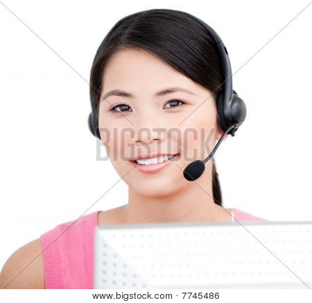 Asian Customer Service Representative