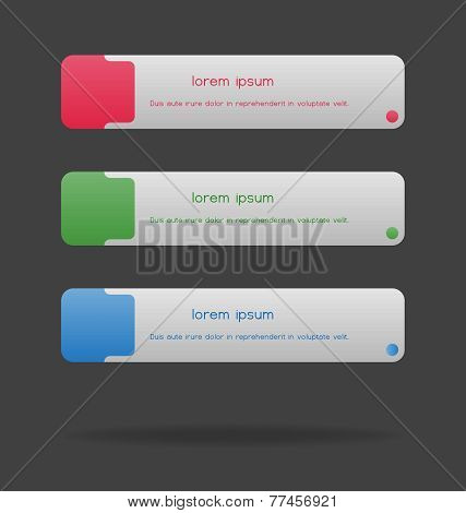 Modern, Clear Template, Rectangle (brick) Shape. Can Be Used For Infographics, Websites Elements, Pr