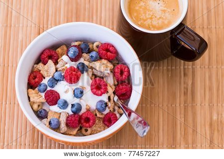 Healthy Breakfast -muesli And Coffee