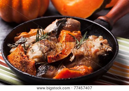 Chicken with pumpkin