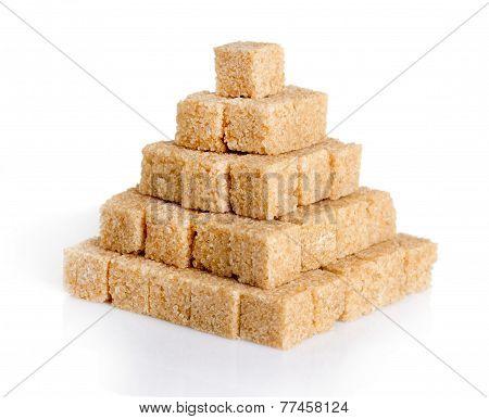 Pyramid Of Cane Sugar Cubes
