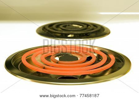 Red Hot Electric Burner On Stove