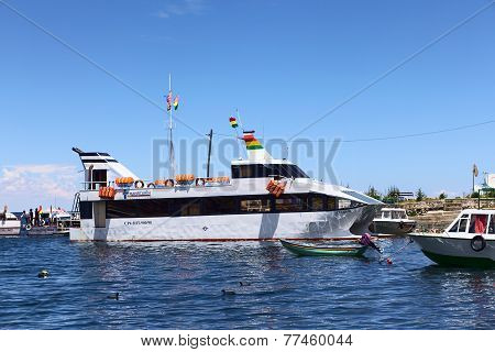 Passenger Ferry in Copacabana, Bolivia