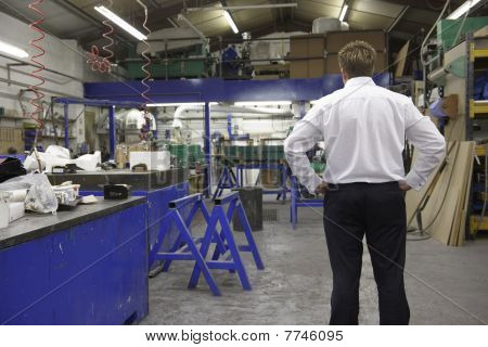 Manager On Factory Floor