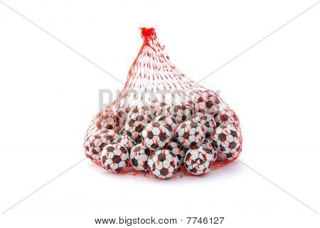 Soccer ball chocolates
