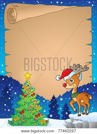 Christmas topic parchment 8 - eps10 vector illustration.