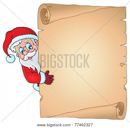 Christmas topic parchment 2 - eps10 vector illustration.