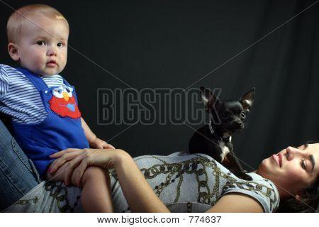 Dog Boy Mom