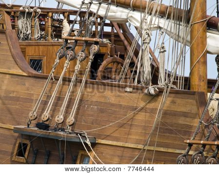 17Th Century Galleon Detail