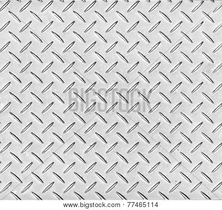 Texture of a metal diamond pattern plate.