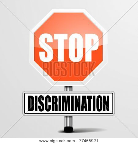 detailed illustration of a red stop discrimination sign, eps10 vector