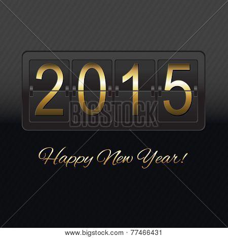 New Year Black Counter, Vector Illustration