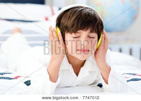 Cute Boy Listenning Music