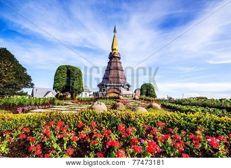 Landscape Of Pagoda In An Inthanon Mountain, Doi Inthanon Nation Park,thailand.