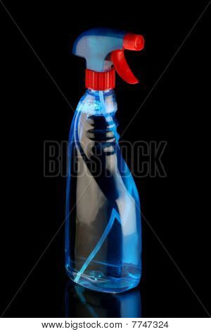 Blue Cleaning Solution Spray Bottle