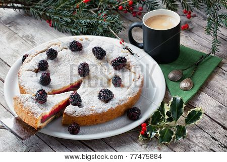 English Trifle Filled Pie