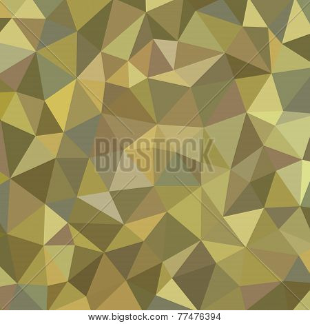 Geometric background - vector pattern. Khaki color vector background. Polygonal background.