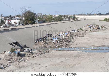 Homeless Camp In Tijuana