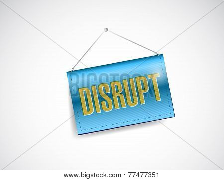 Disrupt Hanging Banner Illustration