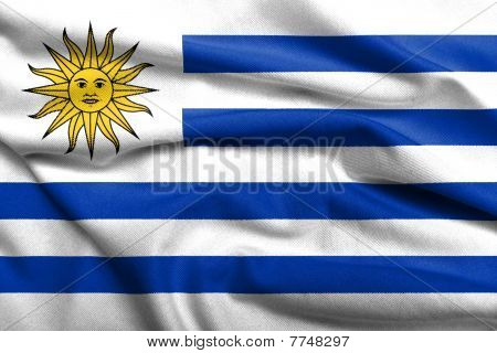3D Flag Of Uruguay Satin