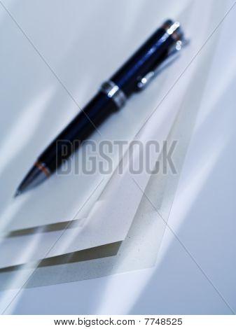 Ballpen On Blank Paper