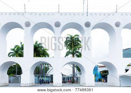 RIO DE JANEIRO, BRAZIL - CIRCA NOV 2014: The Lapa Arch (Arcos da Lapa) in Rio de Janeiro, Brazil