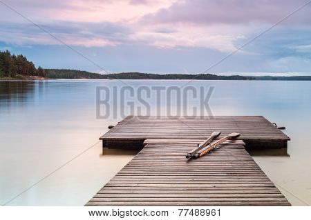 Oars On The Jetty