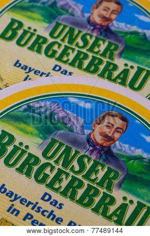 Beermats From Unser Burgerbrau Beer