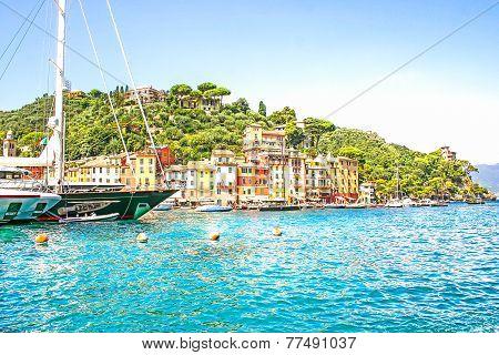 View Of Portofino, Cinque Terre, Italy