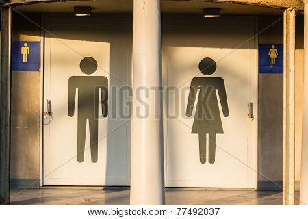 Public Restroom Door Sign
