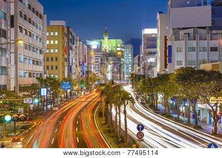 Naha, Okinawa, Japan downtown cityscape.