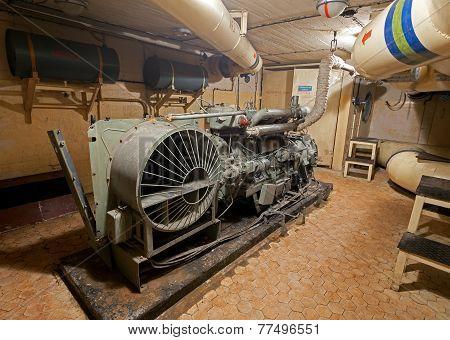 Diesel Generator In Soviet Nuclear Weapon Storage.
