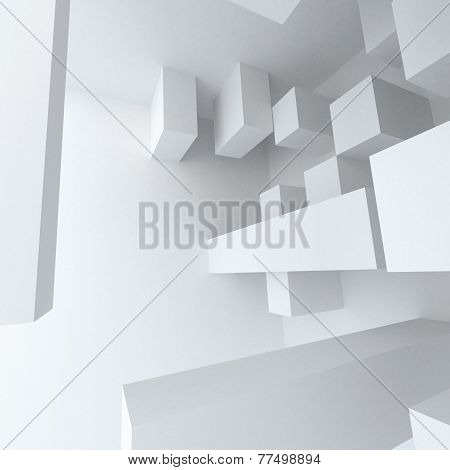 Abstract Geometry White Building Construction