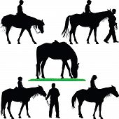 picture of horse-riders  - horse - JPG