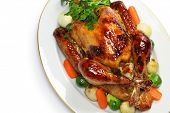 image of turkey dinner  - homemade roast turkey - JPG