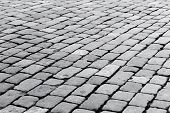 foto of paving  - patterned paving tiles of olf sreet square  - JPG
